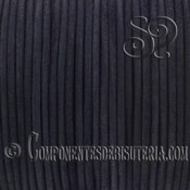 Cordón de Cuero Natural Negro 1mm