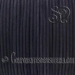 Cordon de Cuero Negro 3mm