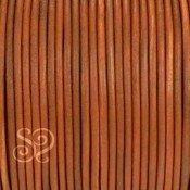 Cordón de Cuero Natural Marrón 3mm