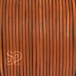 Cordón de Cuero Natural Marrón 4mm