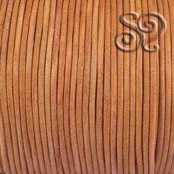 Cordón de Cuero Natural Marrón Claro de 1mm