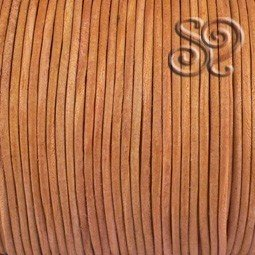 Cordón de Cuero Natural Marrón Claro de 2mm