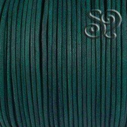 Cordón de Cuero Natural Verde de 1mm