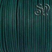 Cordón de Cuero Natural Verde de 2mm