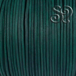 Cordón de Cuero Natural Verde de 4mm