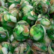 Bola de Nacar y Resina Verde Claro de 10mm