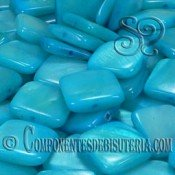 Cuenta Cuadrada de Nacar Azul pack 20uds