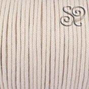 Cordon de algodon trenzado natural de 3mm