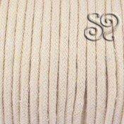 Cordon de algodon trenzado natural de 5mm