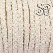 Cordon trenzado de algodon natural 10mm