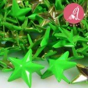 Tachuela estrella verde neon de 15mm