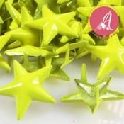 Tachuela de estrella amarillo neon de 15mm