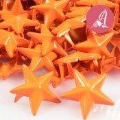 Tachuela de estrella naranja neon de 15mm