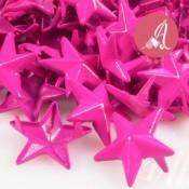 Tachuela de estrella rosa fucsia de 15mm