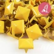 Tachuelas Piramide Amarilla 9mm