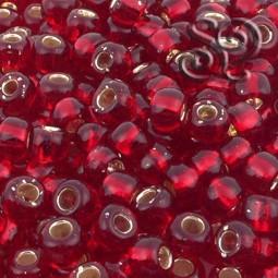ROCALLA TOHO 3/0 SILVER LINED RUBY