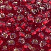Rocalla Toho 3 Silver Lined Ruby de 5mm