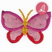 Parche Termoadhesivo Mariposa Rosa Y Amarillo de 43X30mm