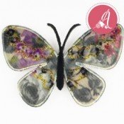 Parche Termoadhesivo Mariposa Blanca de 68X50mm