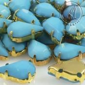 Cabuchon Acrilico Gota Azul de 14X8mm