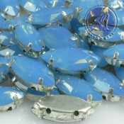 Cabuchon de Resina Navette Azul Opal de 15X7mm
