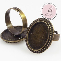 BASE DE ANILLO OVAL BRONCE