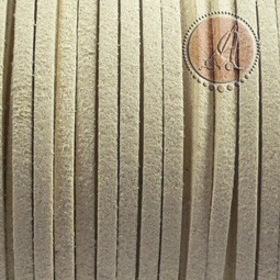 Cordon de Antelina Marfil de 3mm