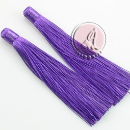 BORLA POMPON DE HILO PURPLE DE 120MM
