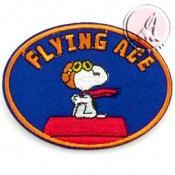 PARCHE TERMOADHESIVO SNOOPY FLYING ACE AZUL