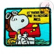 PARCHE TERMOADHESIVO RECTANGULAR SERIE SNOOPY