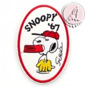 PARCHE TERMOADHESIVO OVAL SERIE SNOOPY
