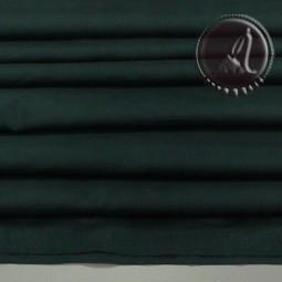 TELA DE SEDA Y ALGODON VERDE OSCURO DE 135x50cm