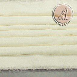 TELA DE SEDA NATURAL MARFIL DE 114x50cm