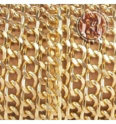 ebb951fd5656 CADENA DE ALUMINIO DORADO DE 9x12MM
