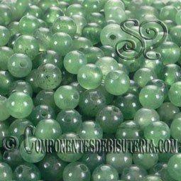 Aventurina verde de 4mm pack de 50 uds