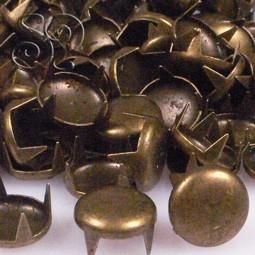 TACHUELA CIRCULAR BRONCE 8MM x 20Uds