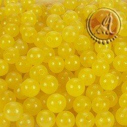 Jade natural amarillo de 4mm pack de 50 uds