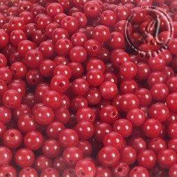Coral natural rojo de 3mm hilo de 123uds