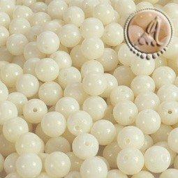 Coral natural blanco de 4mm pack de 50 uds