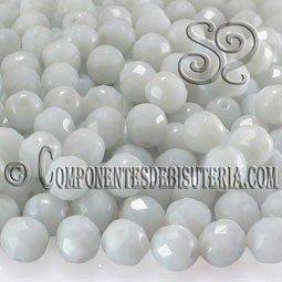 Bola Cristal Checo Blanco Opaco 6mm