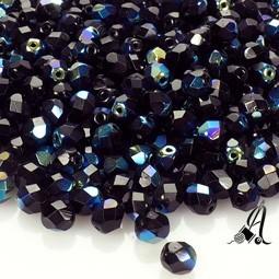 Bola Cristal Checo Negro AB 4mm
