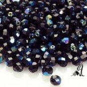 Bola Cristal Checo Negro AB 6mm