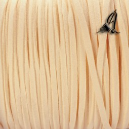 Cordon de Antelina beige de 3mm