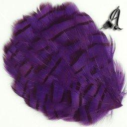 Tocado de Plumas de Faisan Violeta