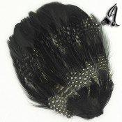 Tocados de Plumas en tonos Blanco, Negro y Marron