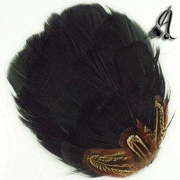 Tocados de Plumas de Faisán en tono Negro