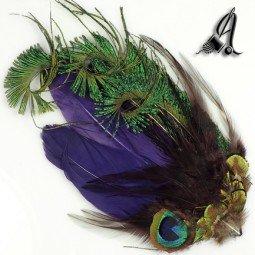 Tocados de Plumas Natural de Pavo Real y Avestruz