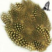 Tocados de Plumas Guinea Amarillo