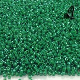 DELICAS MIYUKI 11/0 OPAQUE JADE GREEN DYED X 6GR