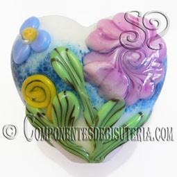 Abalorio Corazón de Cristal Italiano
